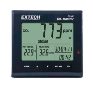 Extech CO100. Настільний вимірювач якості повітря, CO₂.